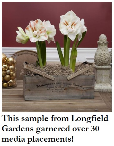 Longfield Gardens, sample program, connect with media influencers tips, media relations how to, longfield gardens,