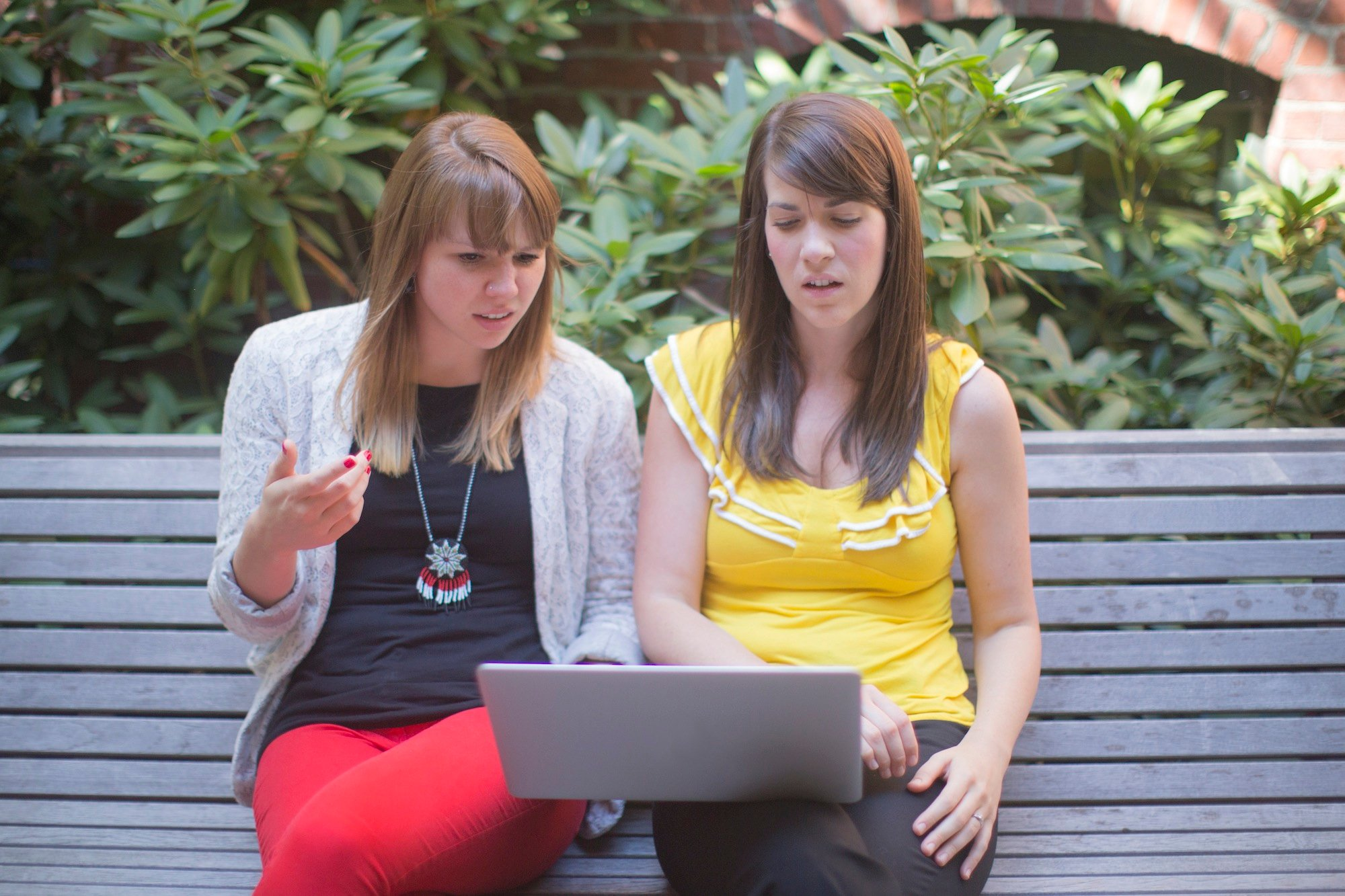millennials, millennials and gardening, sitting on a bench, garden media group, relating to millennials