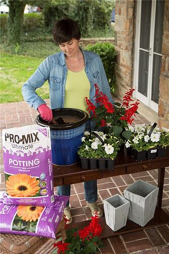 pro-mix soil, garden media group, young person gardening, garden media group