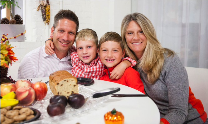 mom and dad, family, appeal to parents, get in touch with milennials, reach millennials, thanksgiving, dinner, garden media group, marketing to millennials