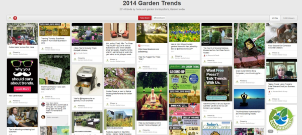 Pinterest Trends, Gardening Trends Pinterest, Garden Media Group Pinterest