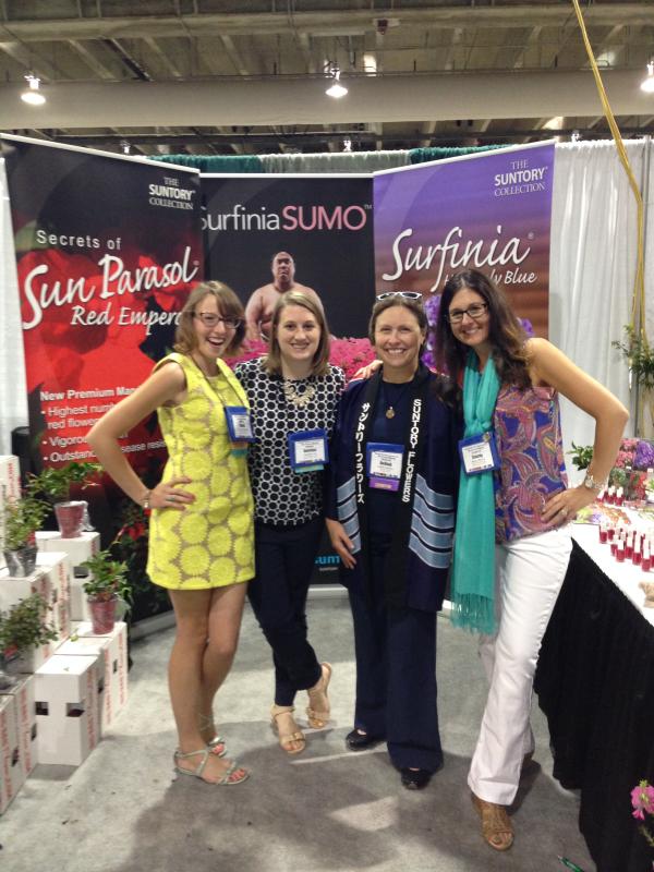 GWA, Suntory, Surfinia Sumo, Netowrking at Trade Show, garden conference