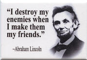 Abe Lincoln public relations from past presidents