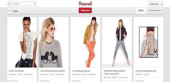 pinterest board catalog