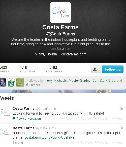 twitter costa farms, garden twitter,