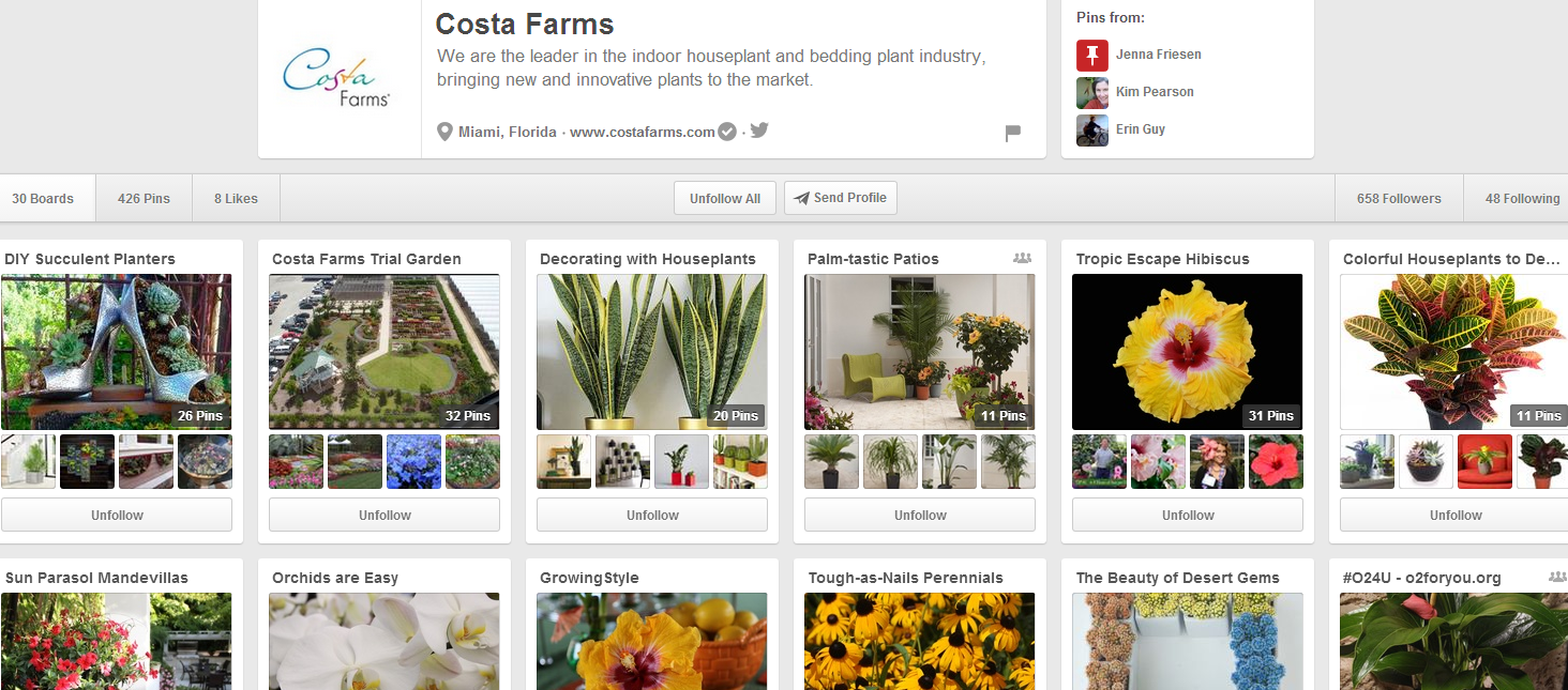 Costa Farms on Pinterest